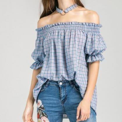 Summer Women Sexy Off-the-shoulder ..