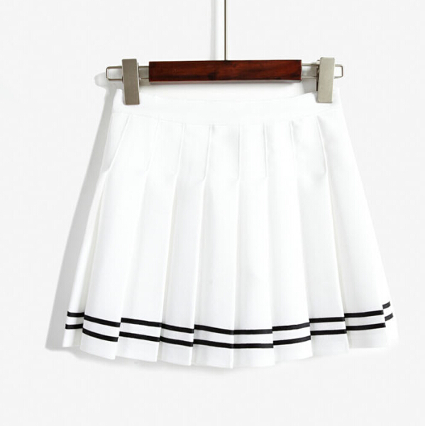 FREE SHIPPING Sailor Nautical Style Pleated Skirt