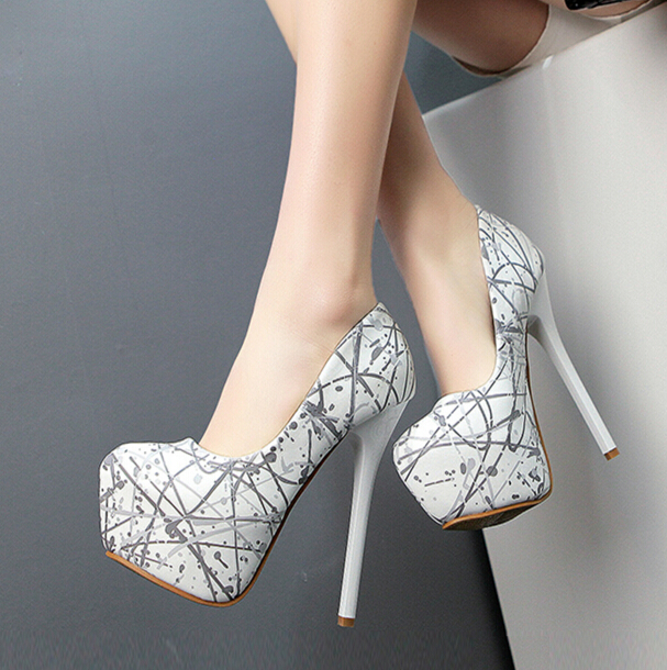 New Sexy White Women's Fashion Pump Night Club High Heel