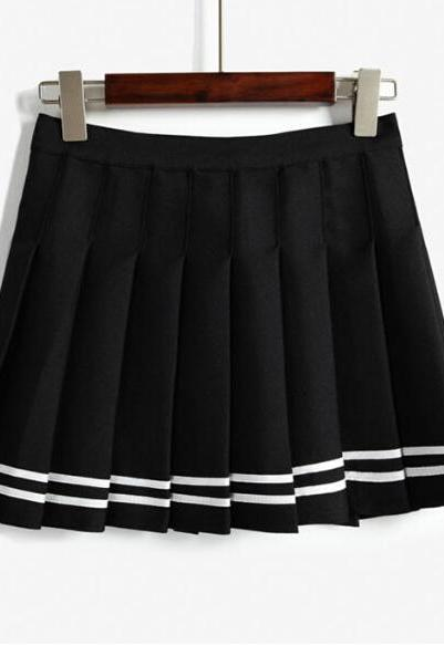 Nautical - Inspired Pleated Skirt