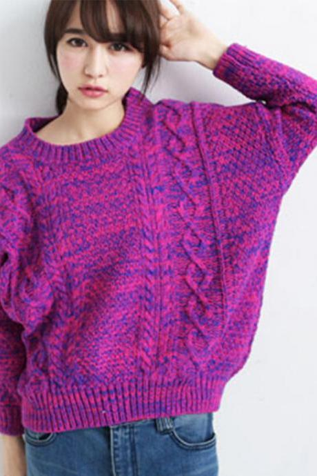 FREE SHIPPING Casual Crew Neck Sweater