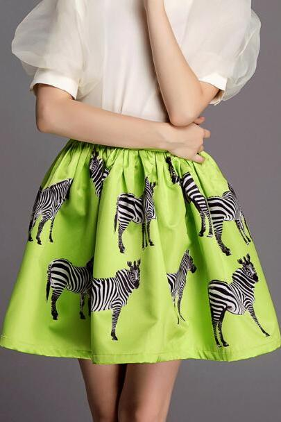 FREE SHIPPING Zebra Printed Skirt