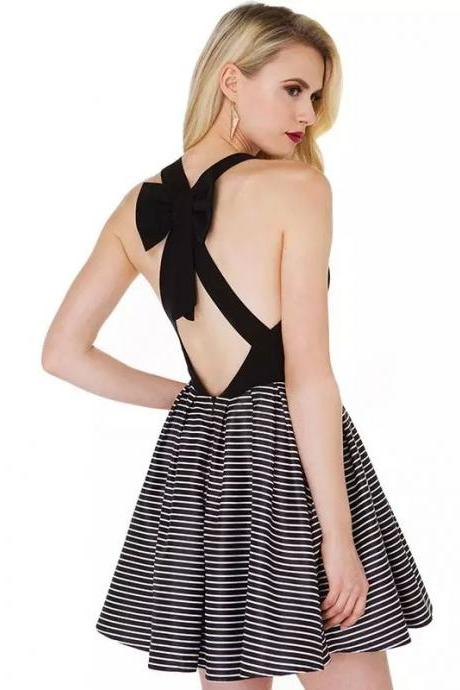 FREE SHIPPING Cross Back Bowknot Dress