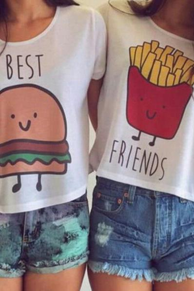 FAST SHIPPING 2016 We Are Best Friends T-Shirt- TWO PIECES