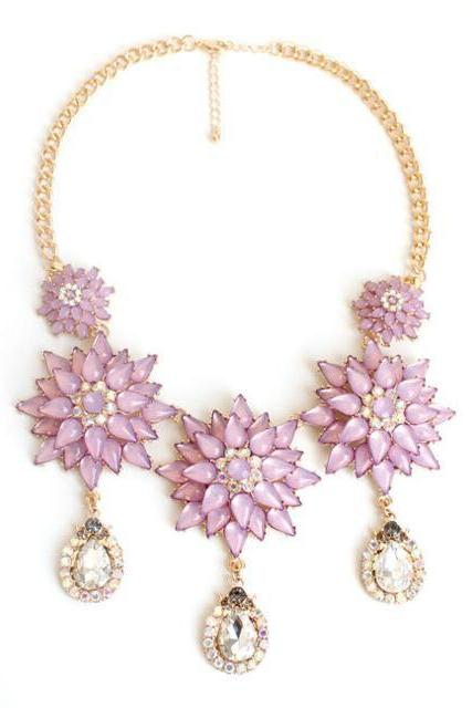 FAST SHIPPING New Exquisite Floral Pendant Necklace