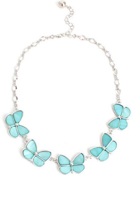 FAST SHIPPING New Fashion Vintage Butterfly Pendant Collar Statement Bib Necklace