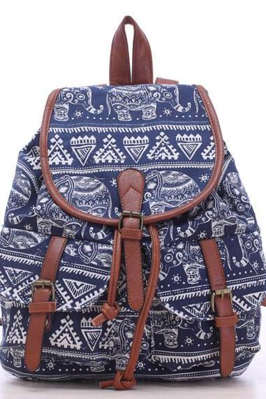 FAST SHIPPING New Vintage Elephant Printed Backpack