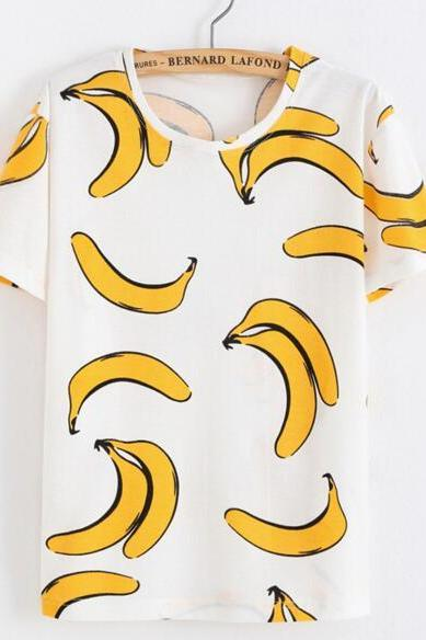 FAST SHIPPING New Harajuku Banana Printed Summer T-shirt