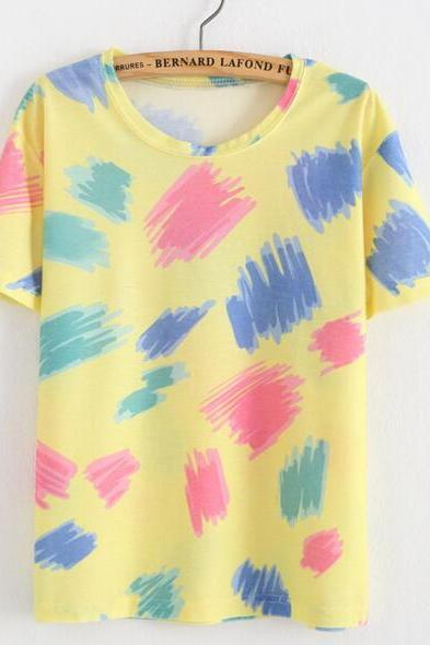 FAST SHIPPING New Harajuku Grafffiti Printed Summer T-shirt